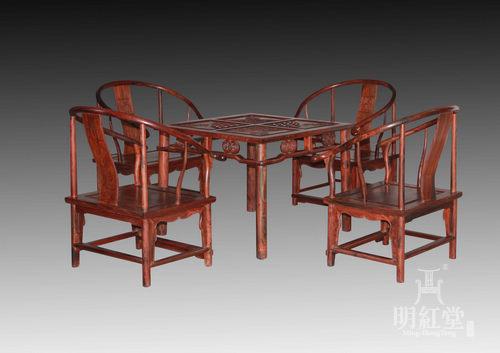 泡茶桌五件套-茶室家具系列-廈門明紅堂紅木藝術有限