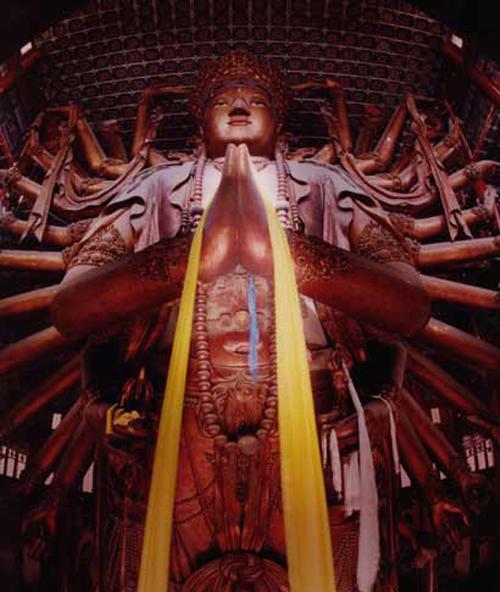 世界最大木雕千手观音-四面千手观音-厦门明红堂红木